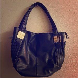✅Women's Ladies Gold Purse Chic Shoulder Bag Black